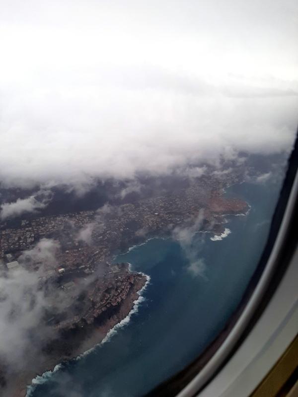 dubrovnik croatia view landing arrival