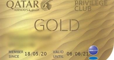 qatar airways privilege club gold card status match
