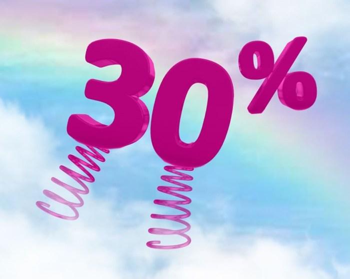 wizz air 30%
