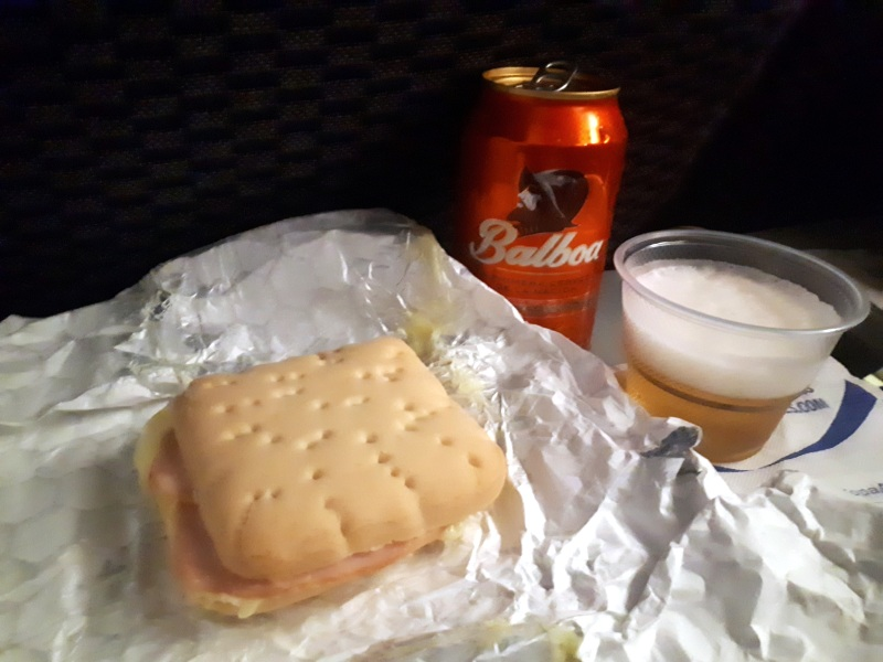 copa airlines snack beer meal