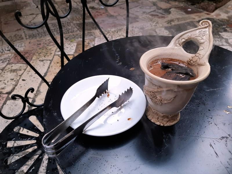 charcoal coffee