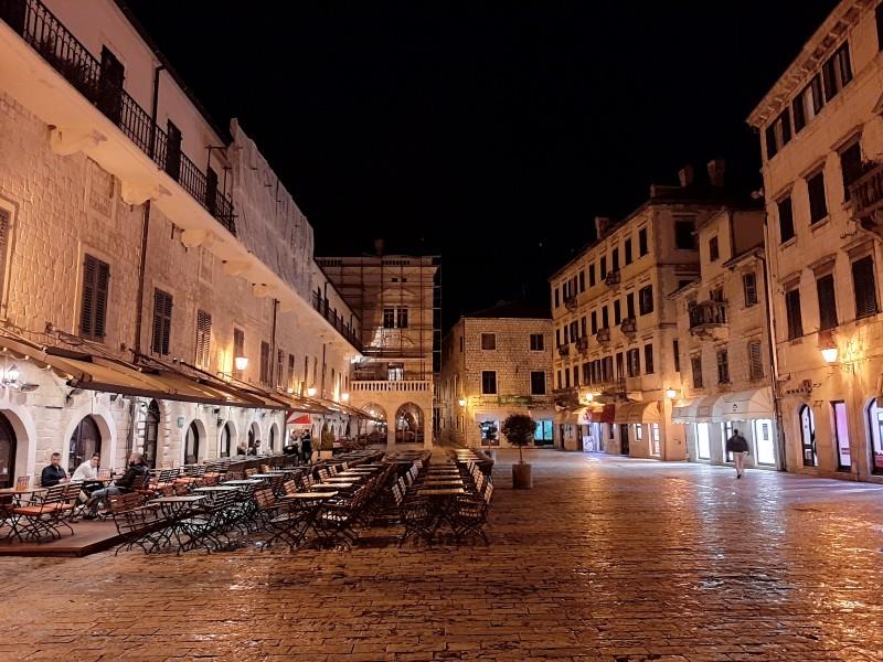 kotor main square night