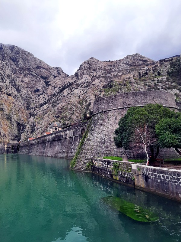 kotor city walls moat