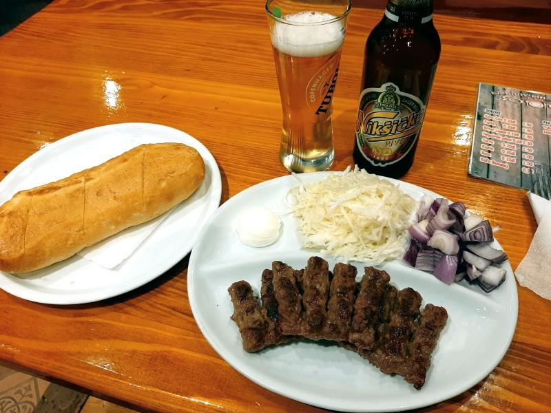 cevapi beer Nikšićko