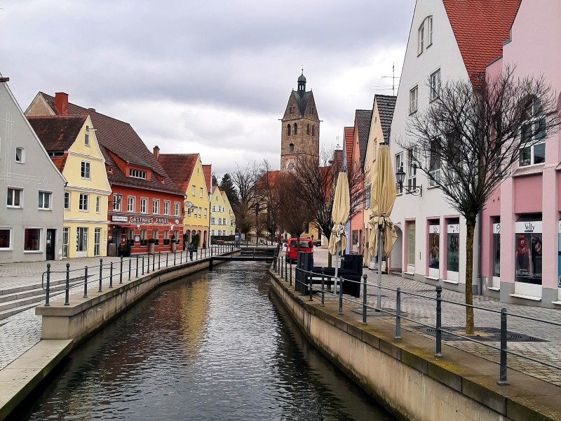stadtbach memmingen old town