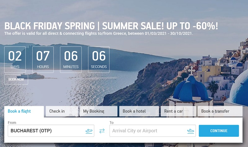 aegean airlines black friday sale