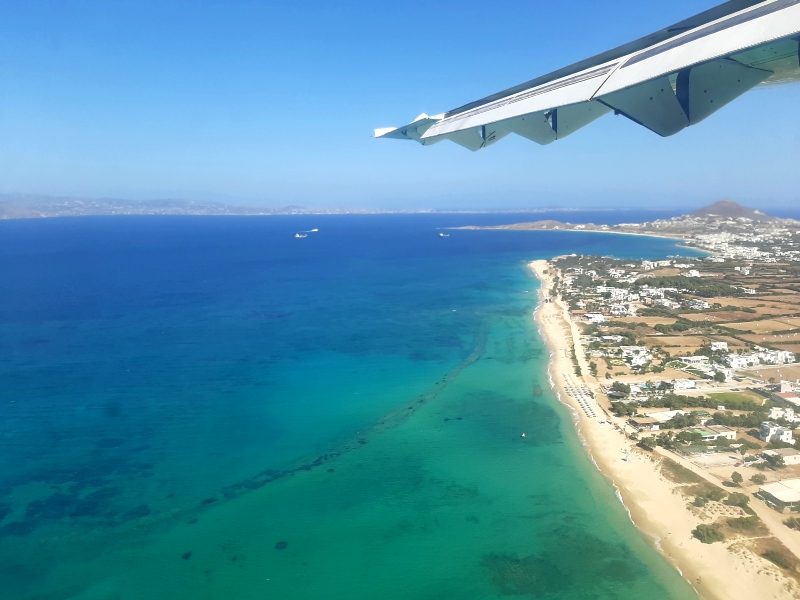 aegean sea naxos sky express landing