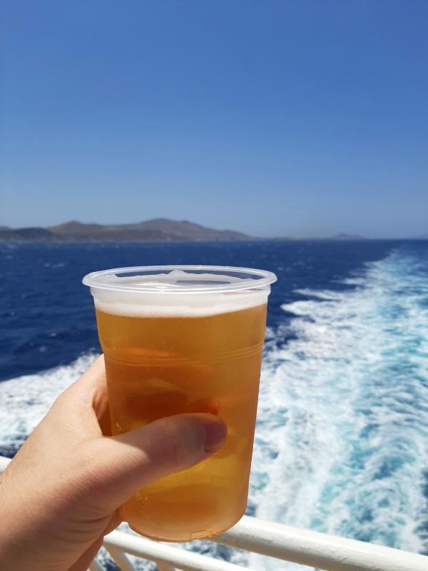 greece beer ship ferry aegean