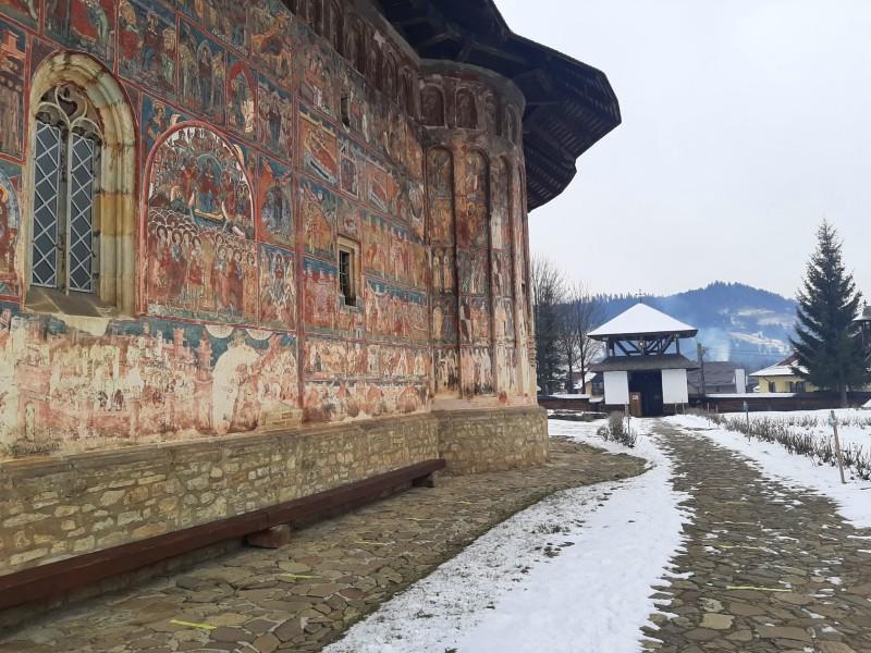 humor painted monasteries bucovina romania