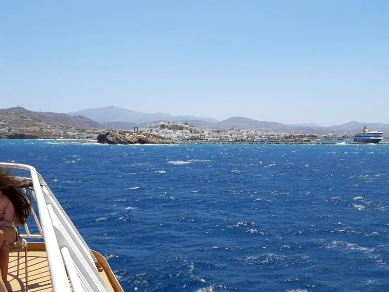 naxos town departure ferry