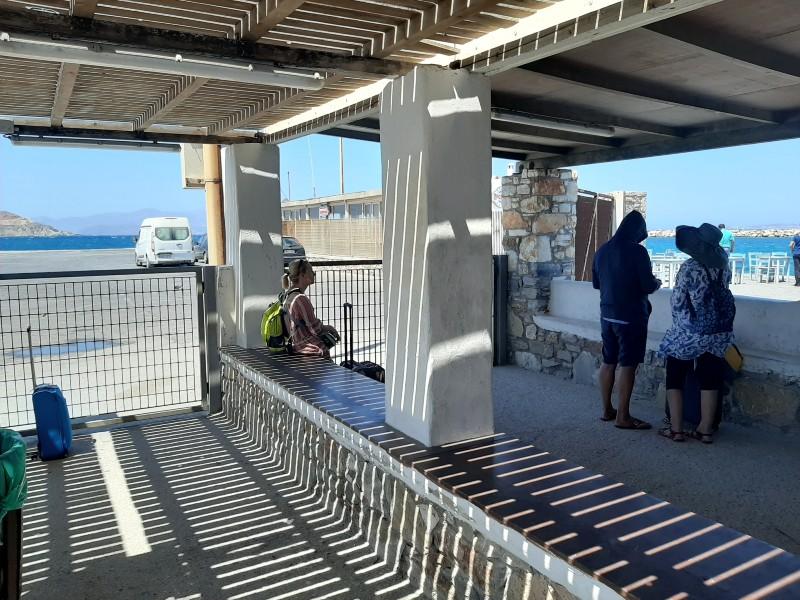 waiting area port naxos