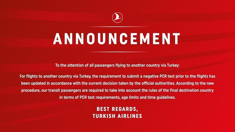 turkish airlines pcr test