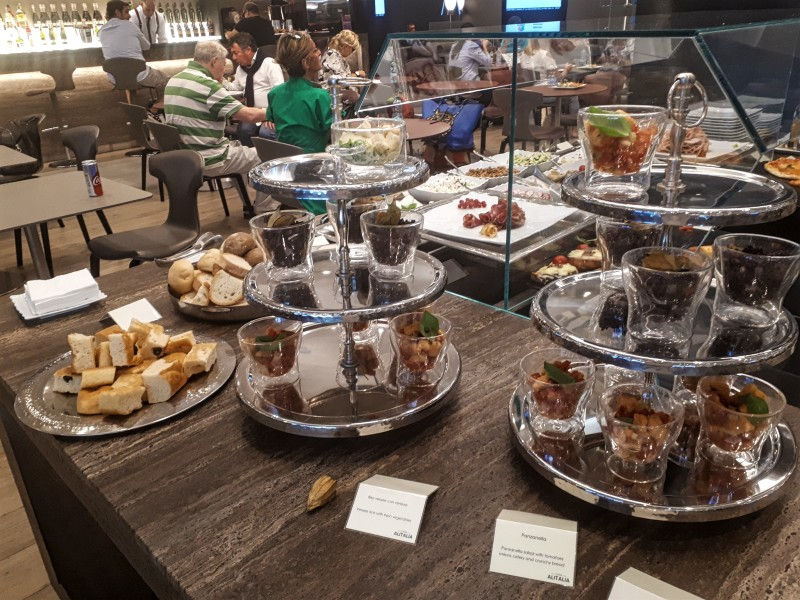 lounge buffet rome casa alitalia