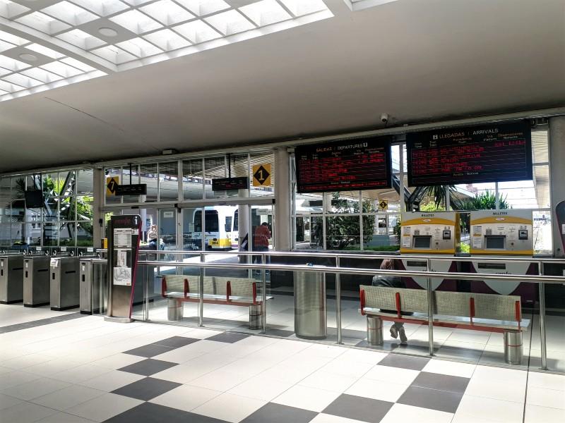santander FEVE railway station narrow gauge