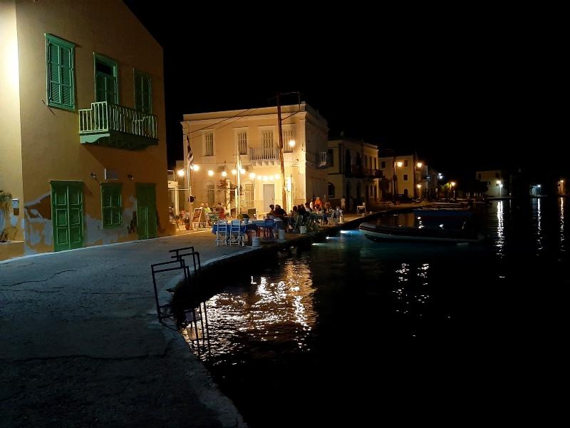 kastellorizo waterfront night