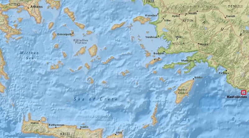 kastellorizo map