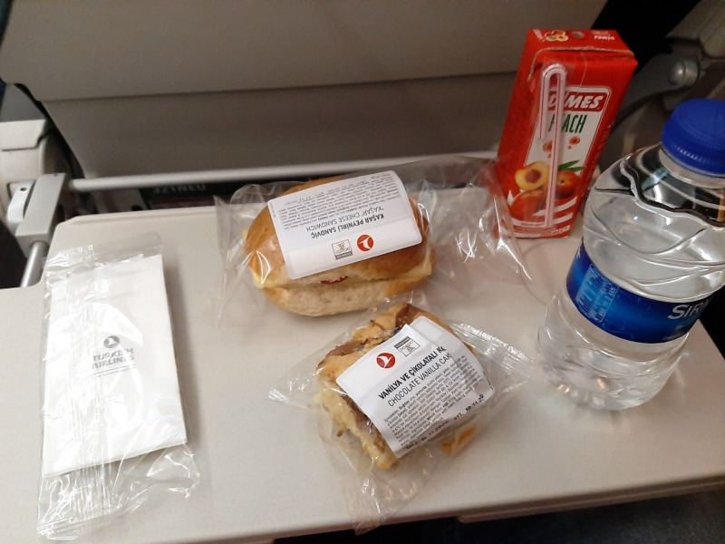 turkish airlines corona catering food