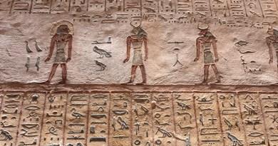 hieroglyphs tomb egyptian luxor