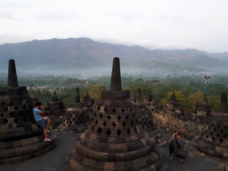 borobudur temple morning mist