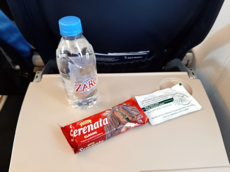 olympic air review domestic greece snack