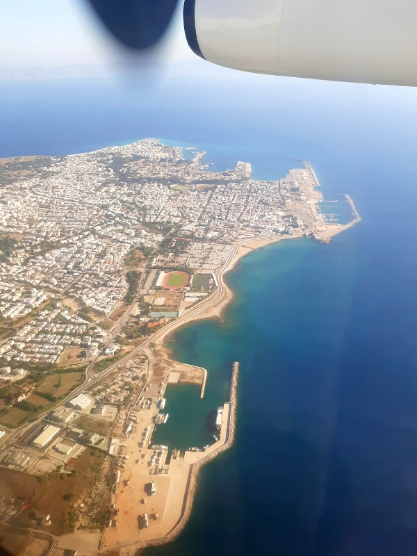 rhodes town air view