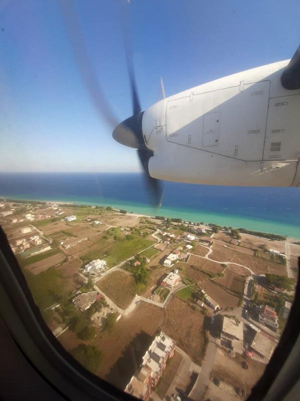 rhodes airport landing