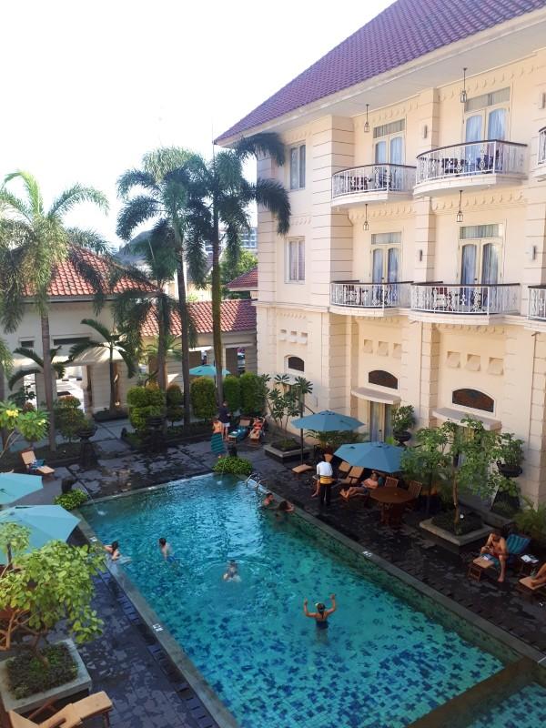 pool view balcony phoenix hotel yogyakarta