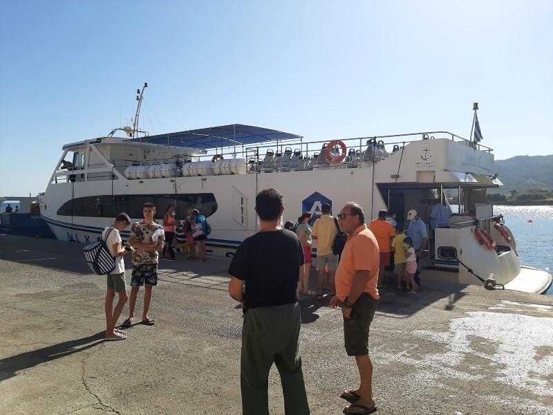 kamiros skala rhodes halki ferry