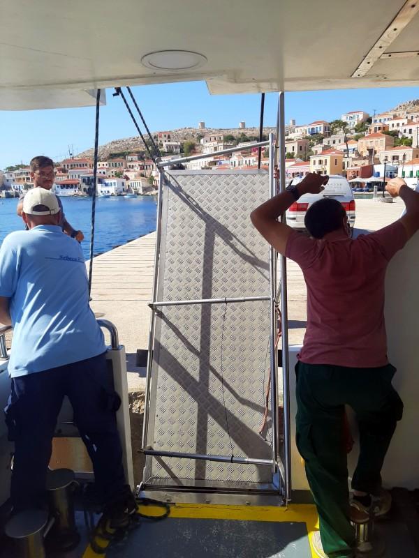 ferry crew gangway halki