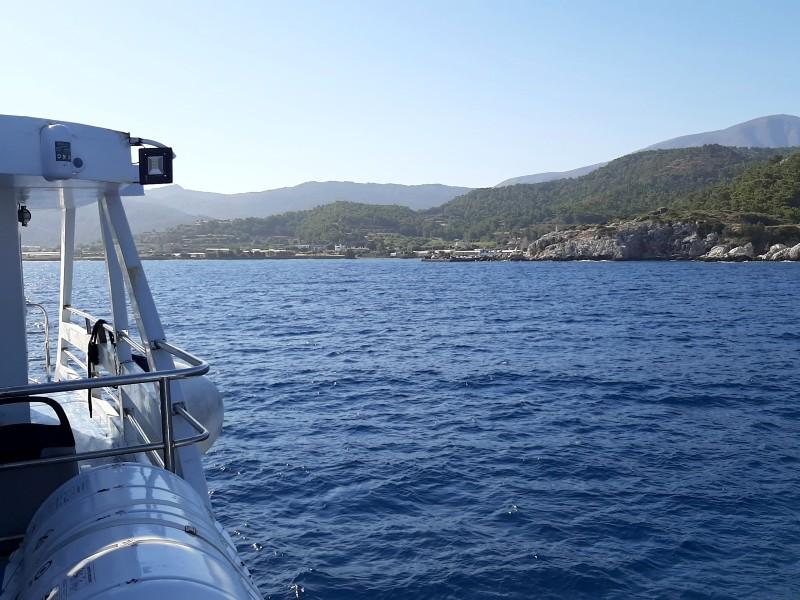 kamiros skala harbour port ferry rhodes