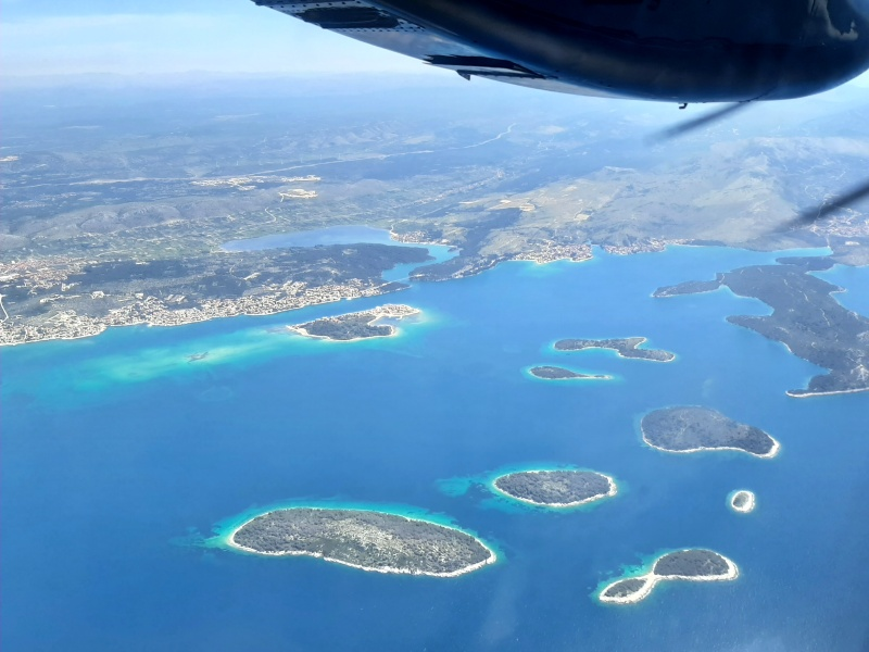 coastline sibenik croatia let l-410 turbolet trade air