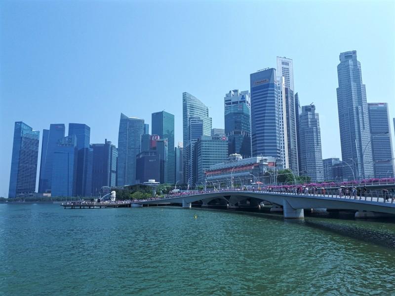 singapore esplanade skyline