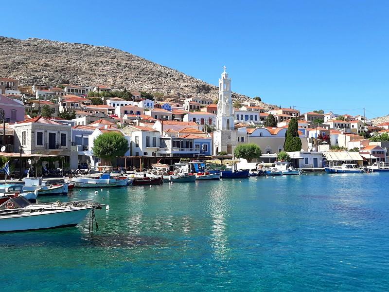 halki town greece chalki emborios