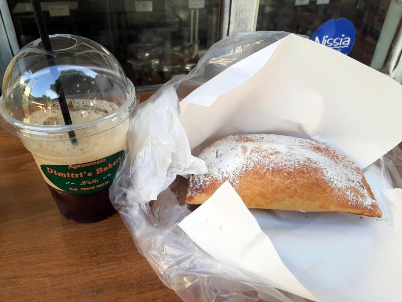 freddo espresso apple pastry breakfast greece