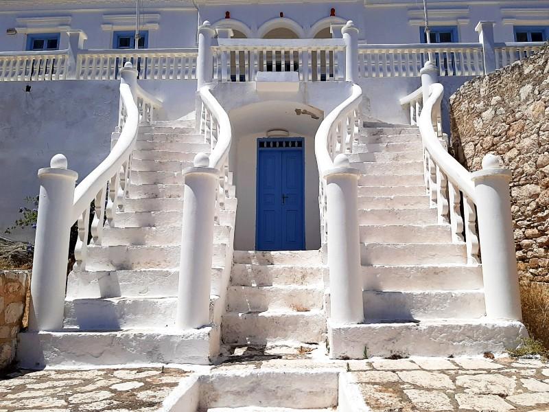 stairs town hall halki