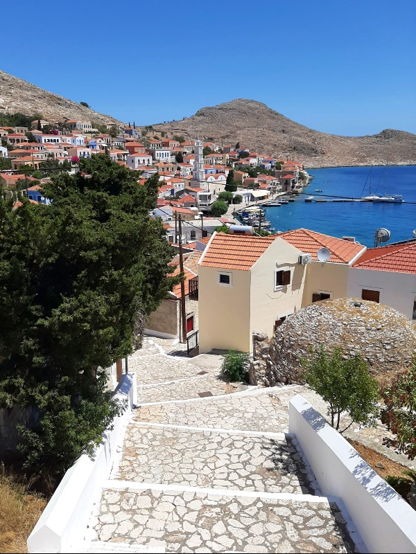 halki town greece emborios
