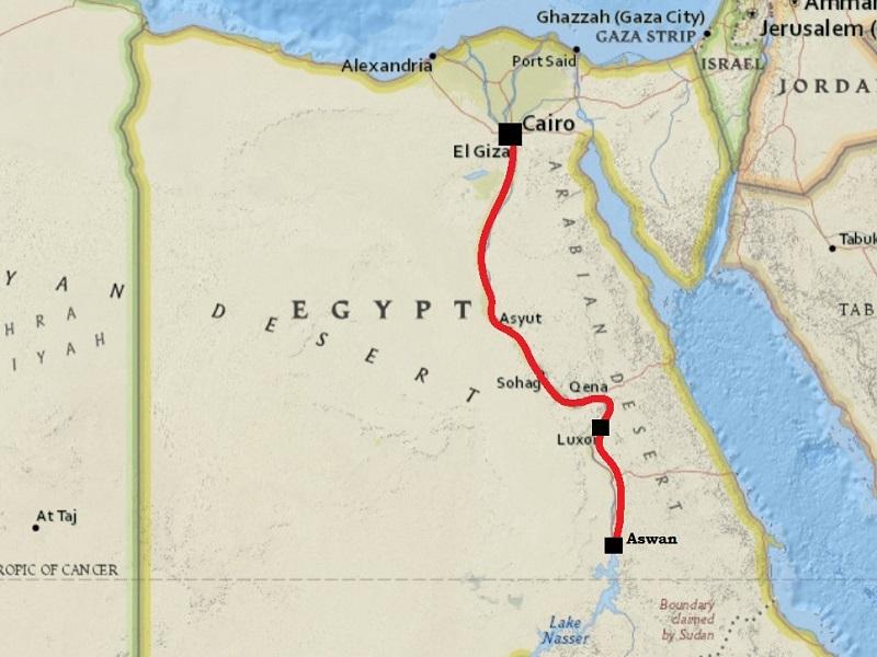 cairo luxor aswan train map