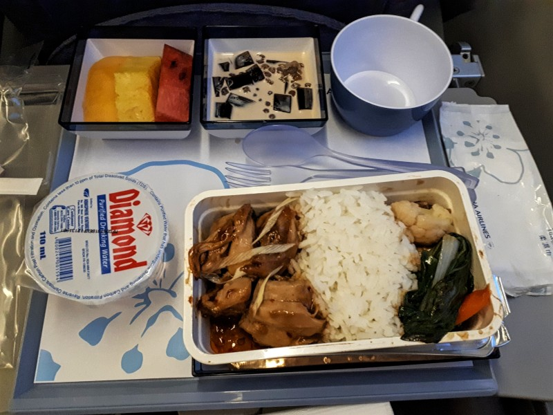 china airlines economy class meal airbus a330