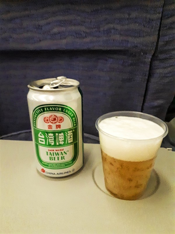 taiwan beer china airlines economy class