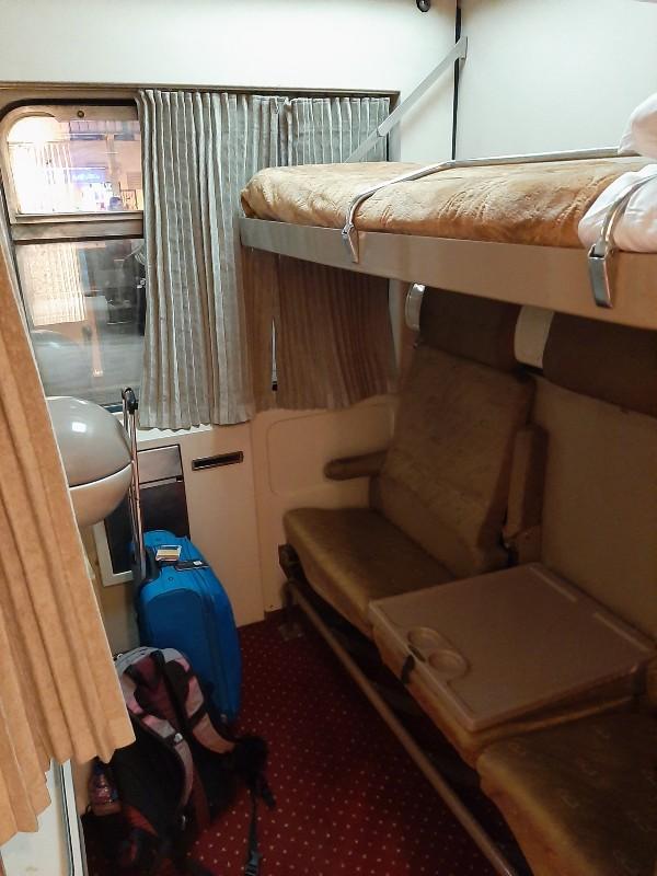 ernst watania sleeping train compartment cairo aswan egypt