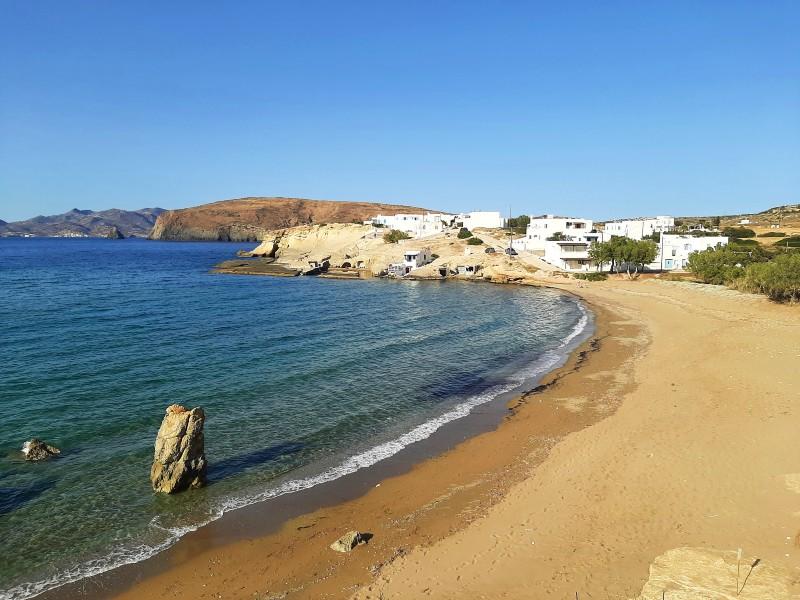 beach milos greece greek tourism