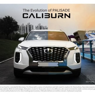 caliburn hyundai palisade badges emblems