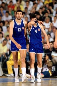 [2010 -- ESPN Films 30 for 30 -- Once Brothers -- The gripping tale of Vlade Divac (l) and Drazen Petrovic, how circumstances beyond their control tore apart their friendship, and whether Divac has ever come to terms with the death of a friend before they had a chance to reconcile.] *** []
