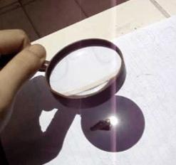 Lens-burn-paper