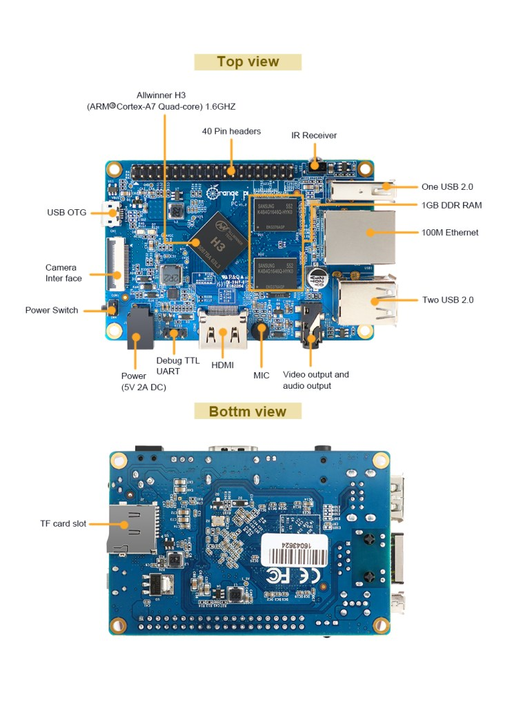 Orange Pi PC Board