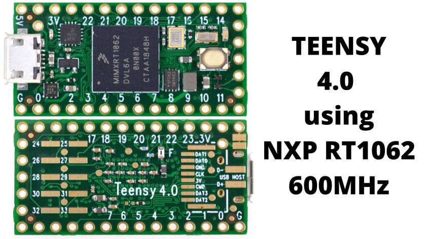 Teensy 4 board using NXP iMXRT1062 MCU 1