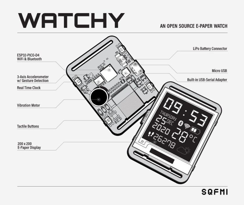 Watchy: An Open Source E-Paper Display Watch 1