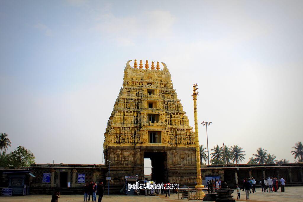Gopuram and Gravity pillar - Belur