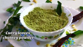 Curry Leaves Chutney powder