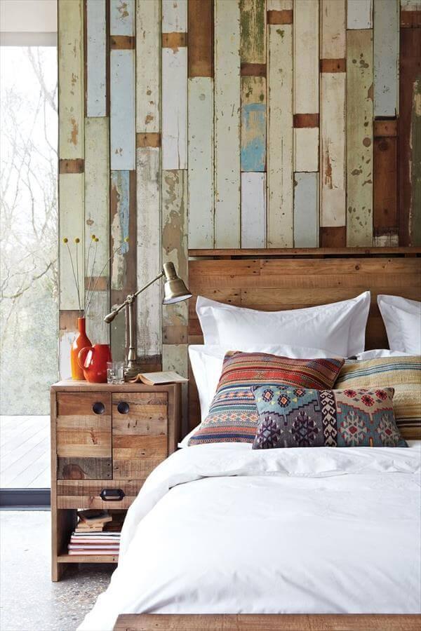 16 DIY Wood Pallet Wall Ideas | Pallet Furniture DIY on Pallet Bedroom  id=40182